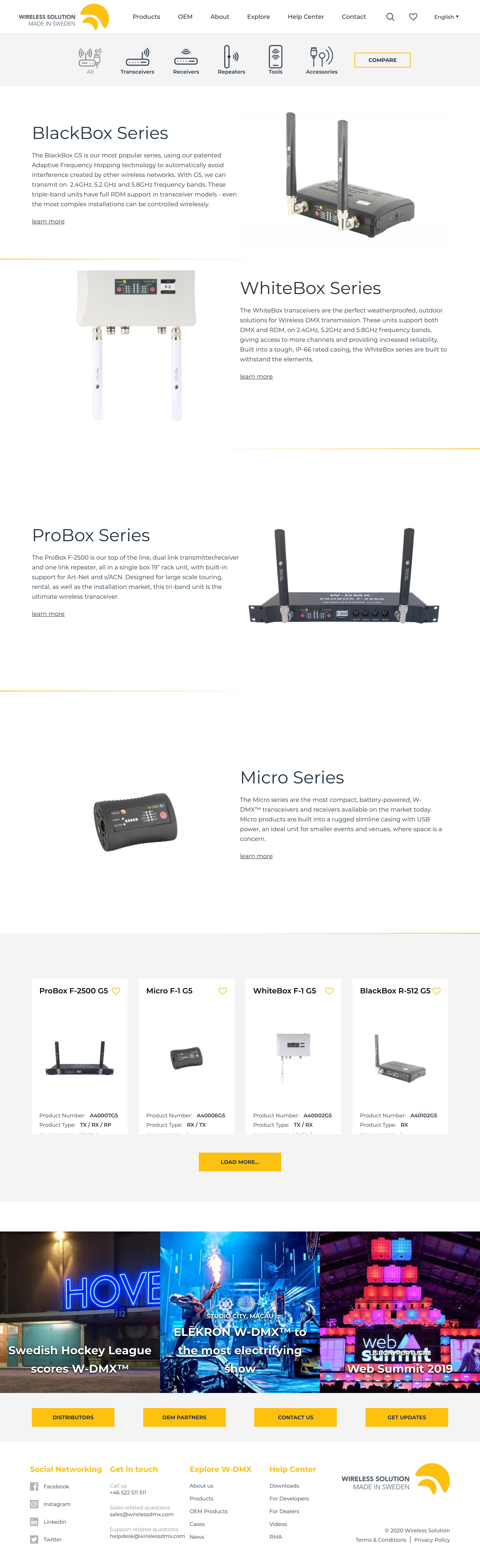 Wireless DMX category new design